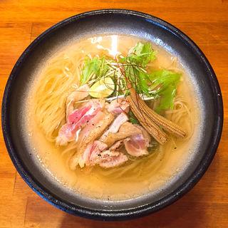 魚介と阿波尾鶏 すだち冷やし(醤油と貝と麺 そして人と夢 )