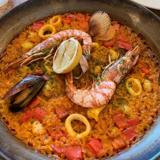 Paella Mariscos(Lubina)