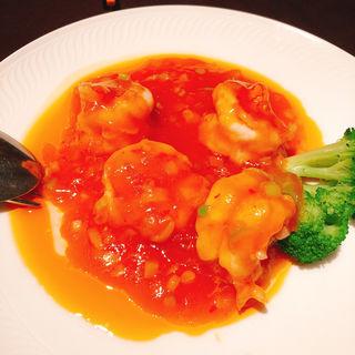 大海老のチリソース煮(中国料理 品川大飯店)