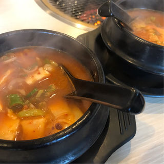 豆腐チゲ(焼肉処 真)