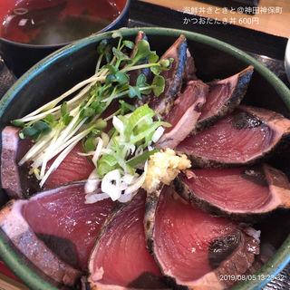 かつおたたき丼(海鮮丼きときと)