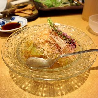 焼きナスのジュレ(酒彩蕎麦 初代)