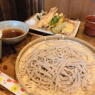 ランチ えび2本野菜天(武蔵野 そば処)