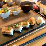炙り寿司4貫+握り寿司6貫