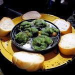 ツブ貝のエスカルゴバター焼き