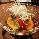四川風 揚げ茄子のレモン正油