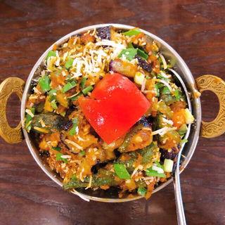 タンドューリ・セット(ビンディ・ベェガン、バスマティランス、チキンティッカ2種)(アーンドラ・ダイニング 銀座 (Andhra Dining GINZA))