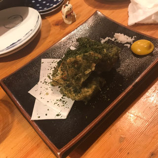 レンコンとチーズの磯辺揚げ(おじんじょ)