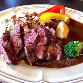 ステーキ&夏野菜カレーセット