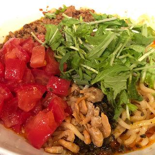汁なし担々麺+トマト(タンタンタイガー)