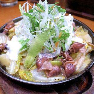 ホタルイカと春キャベツ鉄板焼(酒蔵北の誉 )