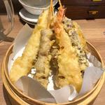 海老天ぷら(天ぷら海鮮と釜飯 米福 あべのルシアス店)