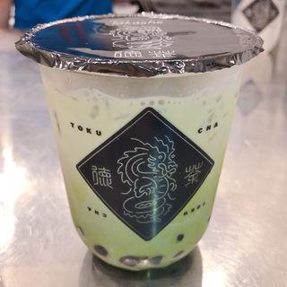 抹茶タピオカラテ(徳茶)