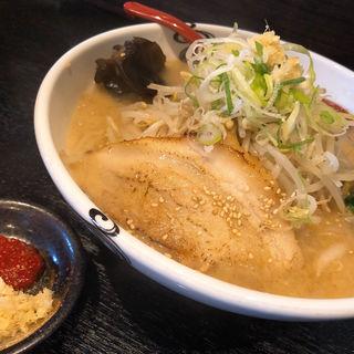 白味噌ラーメン野菜増し 火薬皿(らー麺 家康 北郷店)