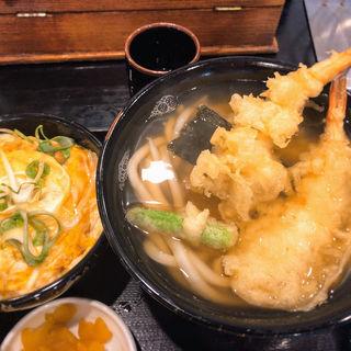 天ぷらうどん ミニ玉子丼セット(だいきうどん 長原店 )