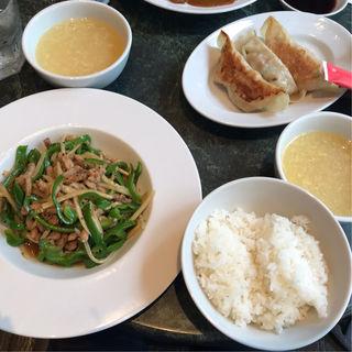 豚肉とピーマンの香り炒め(人人人 東京ビルTOKIA店 (レンレンレン))