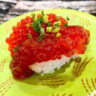 紅鮭すじこ正油漬け(回転寿司 根室花まる 銀座店)