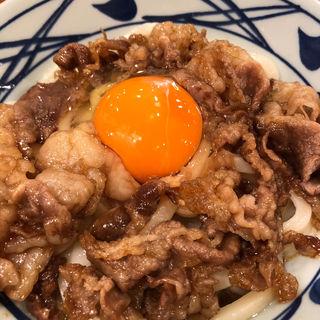 牛すき釜玉うどん(丸亀製麺 米沢店)