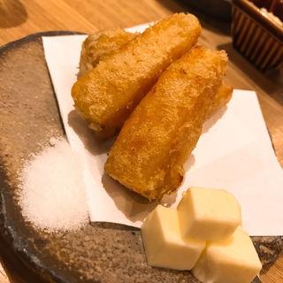 安納芋の天ぷら(炉端 百式)