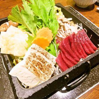 国産馬肉と京味噌 すき焼き鍋(あくとり代官 鍋之進 渋谷 )