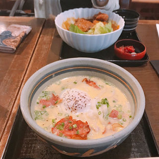 カルボナーラうどん(三国一 東口店 (さんごくいち))