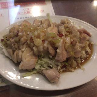 蒸し鶏とネギ油あえ物(福龍門 (フクリュウモン))