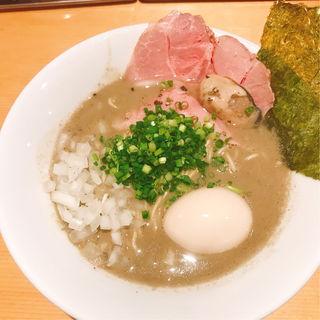 濃厚牡蠣煮干そば(麺屋 まほろ芭)