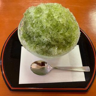 抹茶かき氷(上野亀井堂)