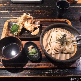 鶏ささみ天ざる(山元麺蔵 (やまもとめんぞう))