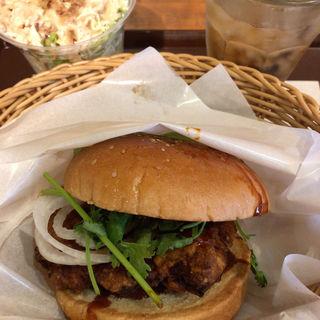 麻辣チキンバーガー セット(フレッシュネスバーガー 銀座8丁目店 (FRESHNESS BURGER))