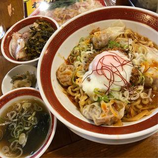 汁無し坦々麺セット(広州市場 新宿東口店 )