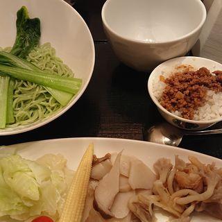◆薬膳湯つけ麺セット(辛口)(天香回味 銀座店 (テンシャンフェイウェイ))
