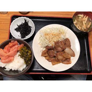 豚しょうが焼定食(博多もつ鍋 やまや 大阪北浜店)