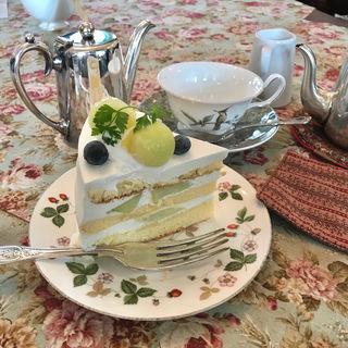 完熟メロンのショートケーキ(北浜レトロ (きたはまれとろ))