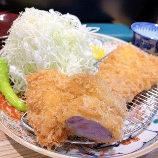 ヒレとロースカツ定食(とんかつ 七井戸)