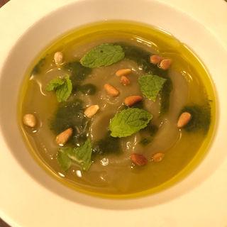 焼き茄子の冷たいスープ(あつあつリ・カーリカ)