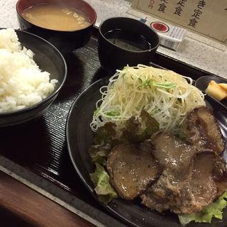 タン塩焼き定食(まる八 )