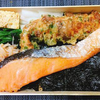 鮭弁当(刷毛じょうゆ 海苔弁 山登り)