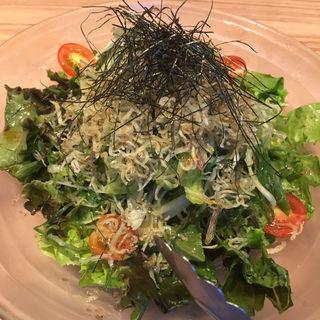 九条ねぎとじゃこのサラダ(ねぎま)