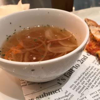 オニオンスープ ホットサンド類に付く、(カフェ ソラーレ 高槻店 (CAFE SOLARE))