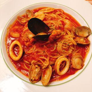 ナポリ風ペスカトーレ ~海の幸の漁師風トマトソース~(スパゲッティ屋 ドナ 池袋ホープセンター店 )