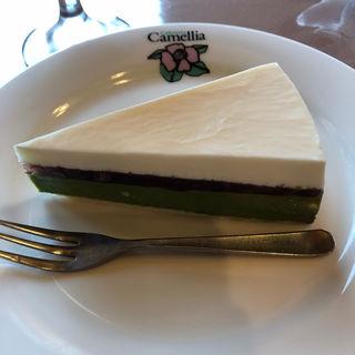 抹茶のチーズケーキ(カフェテリア・カメリア )