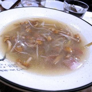 金華ハムと春雨のスープ(四川家庭料理 中洞)
