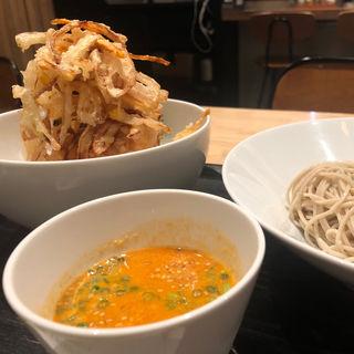 かきあげ丼+チーラーざる蕎麦(EBISU FRY BAR)
