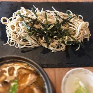 鶏ローストと茸のつけ蕎麦(星ノ灯)