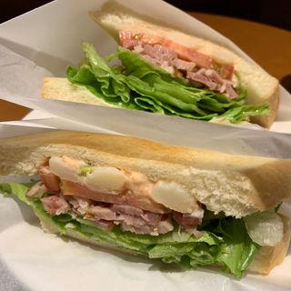 枝豆と明太子ポテトのチキンサンド(プロスペール 安城南店 (CAFE PROSPERE))