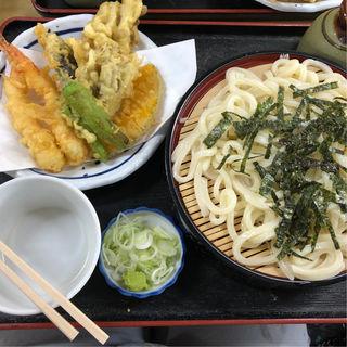 天ぷらざるうどん(あべ屋食堂 )