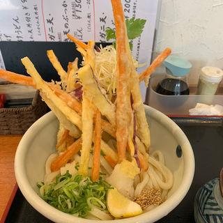 彩り4種野菜のかき揚げぶっかけ 冷温(花は咲く )