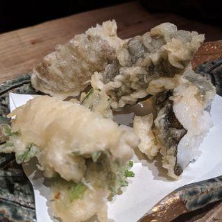 三種のとろろ天ぷら(山芋の多い料理店 麻布十番)