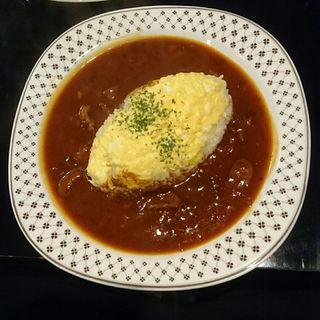 オムハヤシライス(茶廊車門 (さろうしゃもん))